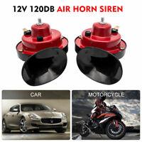 12V Super Loud Snail Air Horn Set Dual Tone Car Bike Van Boat Siren Twin Trumpet
