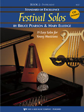 STANDARD OF EXCELLENCE-FESTIVAL SOLOS-MUSIC BOOK 2 W/CD-BARITONE SAXOPHONE-NEW!!