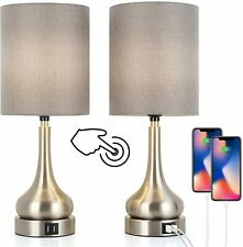 Set of 2 Table Lamps with Touch Control for Living Room...