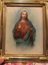 Jesus Light Up Picture Religious Christian Vintage