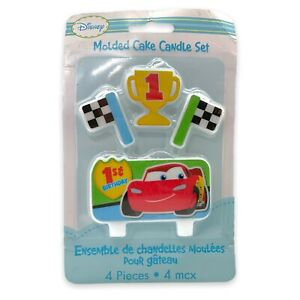 Official Disney Cars Lightning McQueen Molded Cake Candle Set 4 Pieces