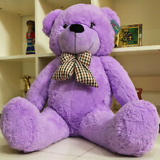 "Joyfay® 47"" 120cm Purple Giant Teddy Bear Stuffed Toy Christmas Gift"
