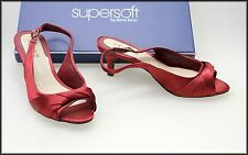 DIANA FERRARI SUPERSOFT WOMEN'S SATIN OPEN TOE HEELS SHOES SIZE 6