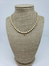 Women's Beaded Necklace Faux Pearls Cream Gold Tone Fashion Jewelry Unbranded
