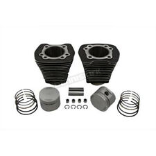 V-Twin Manufacturing Black Cylinder and Piston Kit - 11-2618