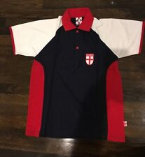 New With Tags England Men's Rugby Polo Shirt Navy Blue Red Size Large