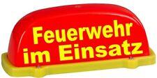 Dachaufsetzer leuchtrot/gelb FW im Einsatz, unbeleuchtet, TüV-Gutachten bis 130