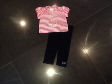 Juicy Couture New &Gen. Baby Girls Cotton 2 Piece With Silver Logo 6/12 MTHS