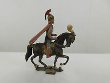 HEYDE ROMAN MOUNTED SOLDIER HORSE RED CAPE VINTAGE LEAD TOY SOLDIERS GERMANY