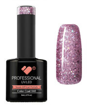 846 VB Line Purple Silver Glitter - gel nail polish - super gel polish