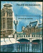 2003 Justice Palace-Bucharest,Operetta Bridge,Agricola Palace,Romania,Bl.327,MNH