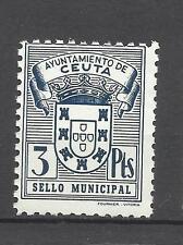 5649-ANTIGUOS SELLOS FISCALES AYUNTAMIENTO CEUTA ESPAÑA NORTE AFRICA MNH**.SPAIN