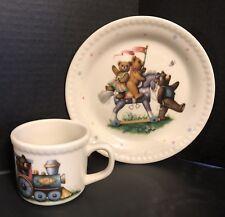 Lenox China Bears Heirloom Collection Plate & Mug Set Vintage
