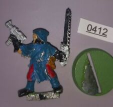 Cawdor Gang Leader w/ Chainsword Necromunda Underhive METAL Games Workshop 1995