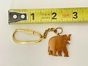 """Sandalwood Elephant Keychain Trunk Up 1"""""""