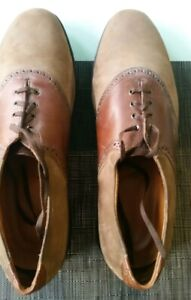 Men's Allen Edmonds Tan Nubuck/Chromexcel Leather Orthotic Saddle Shoe 13D