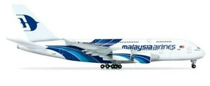 1/160 Malaysia Airline LED Airplane Model A380 Simulation Passenger Aircraft NEW