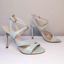 NEW 199$ KAREN MILLEN snake embossed sandals heels shoes Size 7 (37)