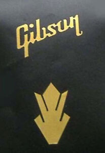 metallic gold vinyl Guitar gibson style headstock  decals word and crown