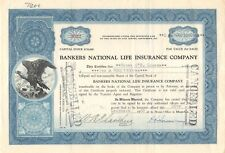 Bankers National Life Insurance compagny (3022) stock certificate