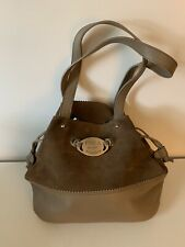 Women's Furla, Italy Tan Suede & Leather Drawstring Bag