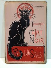 Chat Noir Big Vintage Retro Metal Sign Home Bar Studio Decor(30x40cm)