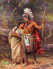 METAL FRIDGE MAGNET Hiawatha Wedding Iroquois Nation Indian Native American