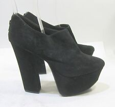 "new Blacks 5.5""block high heel 2"" platform round toe sexy ankle boot size  10"