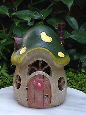 Miniature FAIRY GARDEN House ~ Small Mushroom Cottage House with LED Light