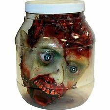 Home Halloween Decoration Scary Laboratory Head in a Jar Prop