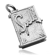 Spell Book Opens Charm Sterling Silver 925 Witch Halloween CMHWSB01