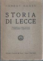 1939 - KRASS - STORIA DI LECCE
