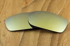 Bright 24k Gold Iridium Polarized Mirror Sunglass Lenses for Oakley Monster Dog