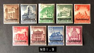 Luxembourg #NB1-9 Complete Set 1941 MH