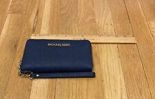 Michael Kors Saffiano Leather Navy Multifunction Wristlet Wallet iPhone 4/5/6/7
