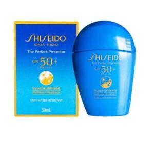 50 ml. Shiseido Perfect UV Protector Synchro Shield SPF50+ PA++++  +Tracking