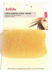 """Knotenpolster """"NOVA"""" Haar-Polster Duttkissen Bun Pad ca. 7,5 x 8 cm eckig blond"""