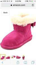 Bearpaw Girls Harper Boots Size 5 Bnib Pom Berry