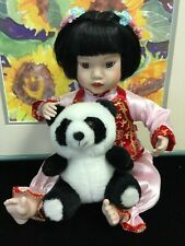 Vintage Mei Mei Danbury Mint Porcelain Chinese Doll - Panda by Bruce Hsieh Used