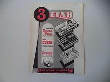 advertising Pubblicità 1948 ELAH GHIACCIO MENTA/CUBIK/CREMA DA TAVOLA