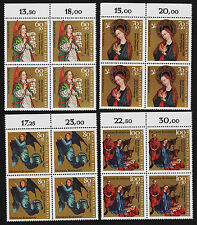 1992 germany Set Sc#1720-3 Mi#1578-81 Numeral Margin Blocks MNH