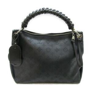 Auth LOUIS VUITTON Beaubourg Hobo 2WAY Shoulder Hand bag M56073 leather Black