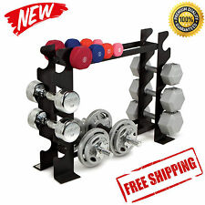 Dumbbell Rack Fitness Weight Barbell Gym Home Workout Exercise Equipment Set NEW