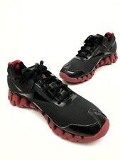 @ Reebok Zig Pulse Shoes Men's Athletic Running Sneaker Black Red Sz 12 Eu45.5