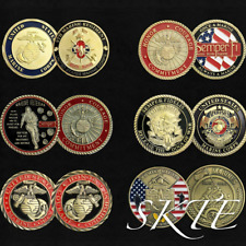 US Marine Corps Challenge Coin Lot Bundle Officers of Marine Corps Veterans Gift