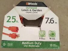 Woods Outdoor Lawn & Garden Medium Duty Extension Cord; 25 Foot