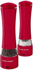 Morphy Richards Equip Stainless Steel Electric Salt and Pepper Mill Set - Red