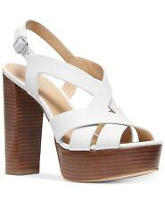 MICHAEL Michael Kors Audrina Platform Sandal Size 9.5M Optic White, MSRP $140