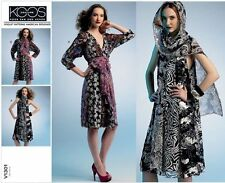 OOP VOGUE KOOS COUTURE DESIGNER TENT TRAPEZE BOHO DRESS PATTERN SIZE XS-M