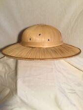 494307d7d53be Vintage Straw 1950 s Pith Helmet Safari Hat